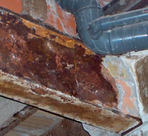 Imagen corrosión viga metalica
