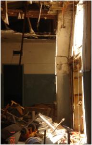 Imagen edificio en estado de ruina