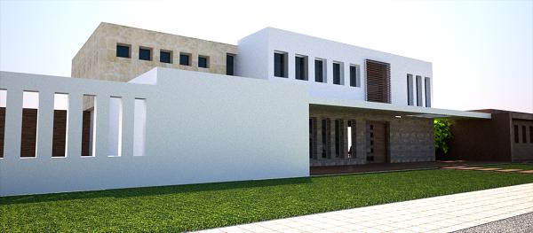 fachada proyecto vivienda