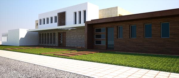 fachada proyecto vivienda moderna