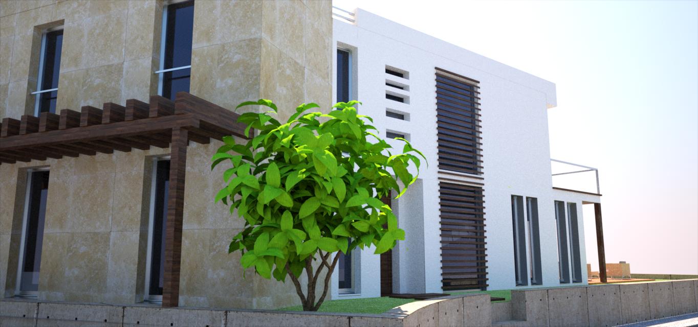 proyecto vivienda vista lateral