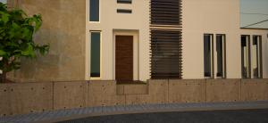 proyecto vivienda vista acceso