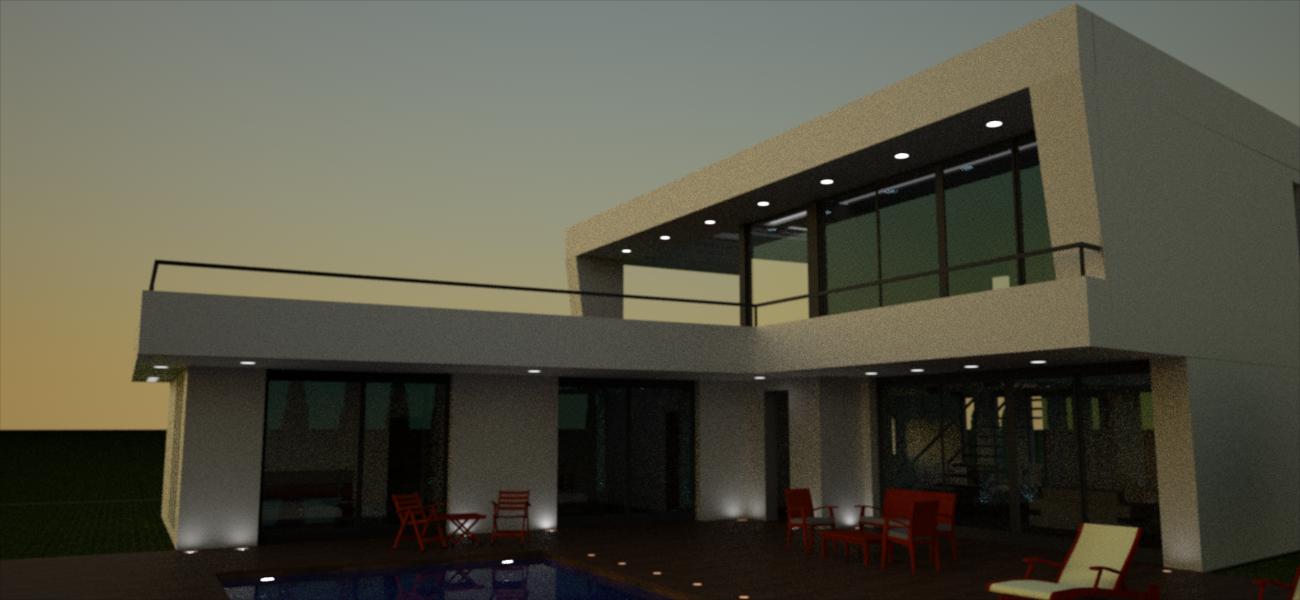 proyecto vivienda alicante vista terraza
