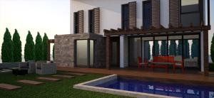 proyecto vivienda torrente, zona piscina
