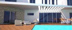 proyecto de vivienda en ladera vista terraza