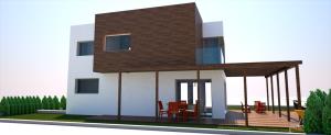 proyecto vivienda alzado lateral