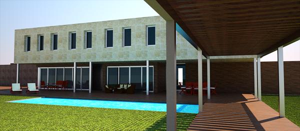 proyecto vivienda madrid vista terraza