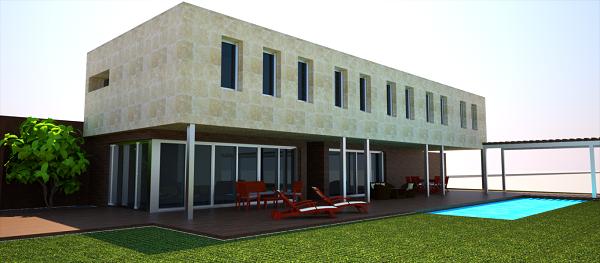 proyecto vivienda madrid alzado lateral