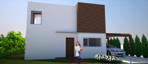 proyecto vivienda sostenible vista acceso