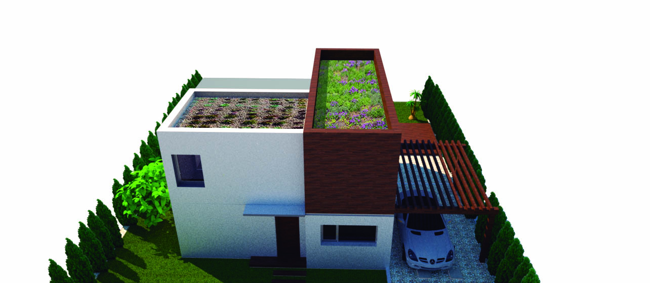 proyecto de vivienda sostenible terraza verde