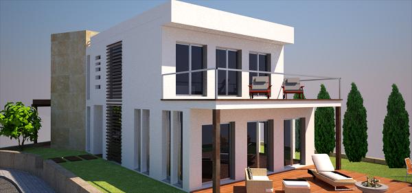 Proyecto de vivienda, terraza