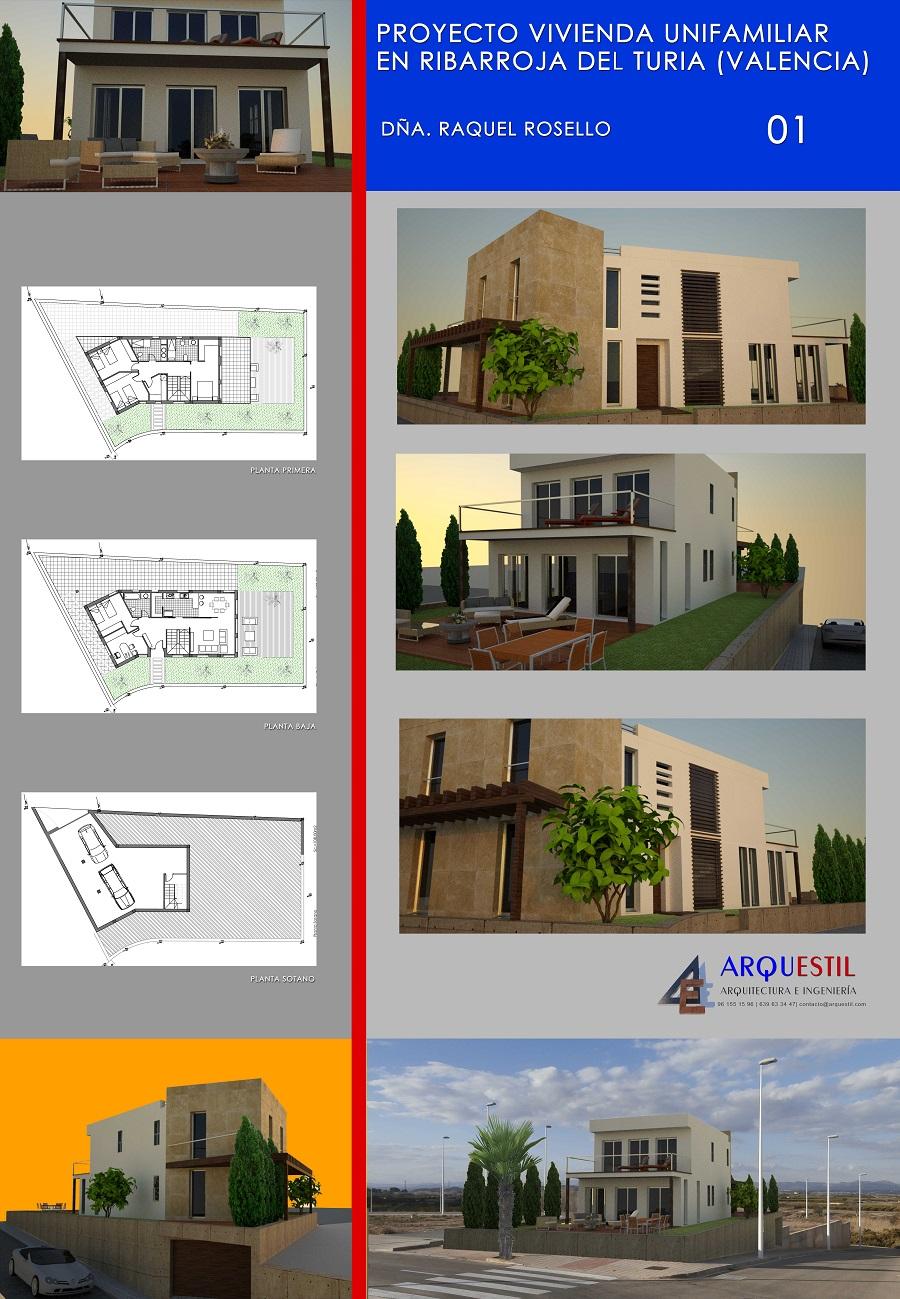 proyecto vivienda unifamiliar estudio