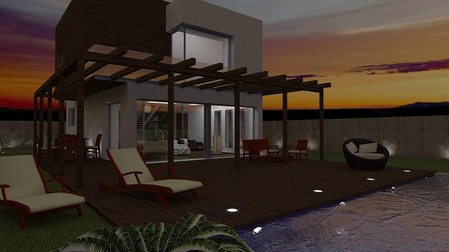 Proyecto vivienda unifamiliar en la playa