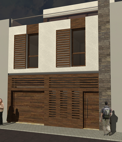 Arquitecto vivienda entre medianeras arquestil - Fachadas viviendas unifamiliares ...