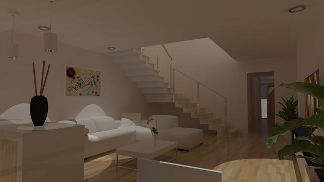 proyecto vivienda vista interior