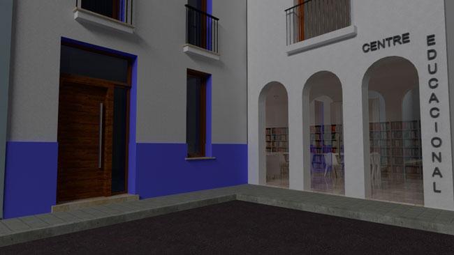 proyecto centro educacional. arquitecto valencia