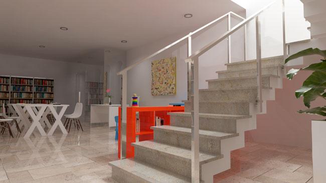 interior proyecto centro educacional arquitecto valencia