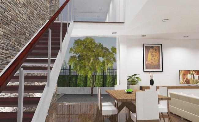 proyecto interior vivienda diseñado por estudio de arquitectura Arquestil