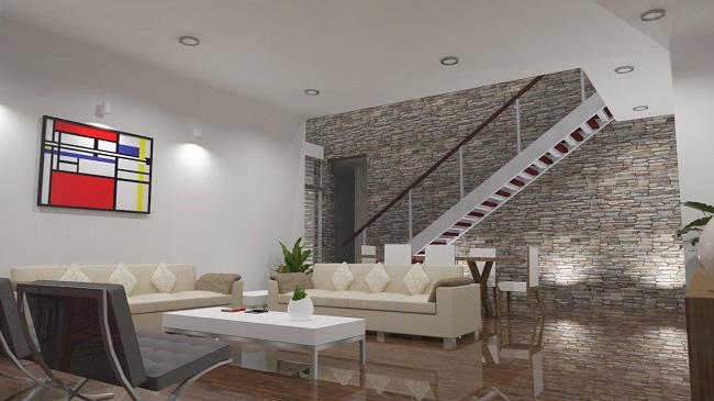 proyecto interior vivienda diseñado por Estudio de arquitectura www.arquestil.com
