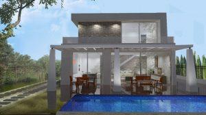 fachada principal proyecto vivienda