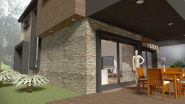 proyecto de vivienda unifamiliar aislada diseñada por Arquestil, Arquitectura e Ingenieria