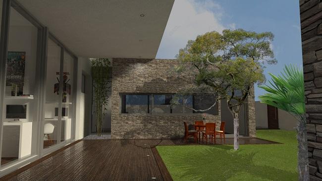 proyecto vivienda patio