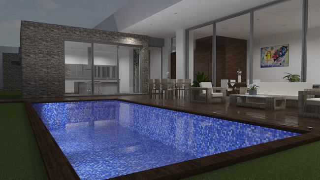 proyecto vivienda y piscina