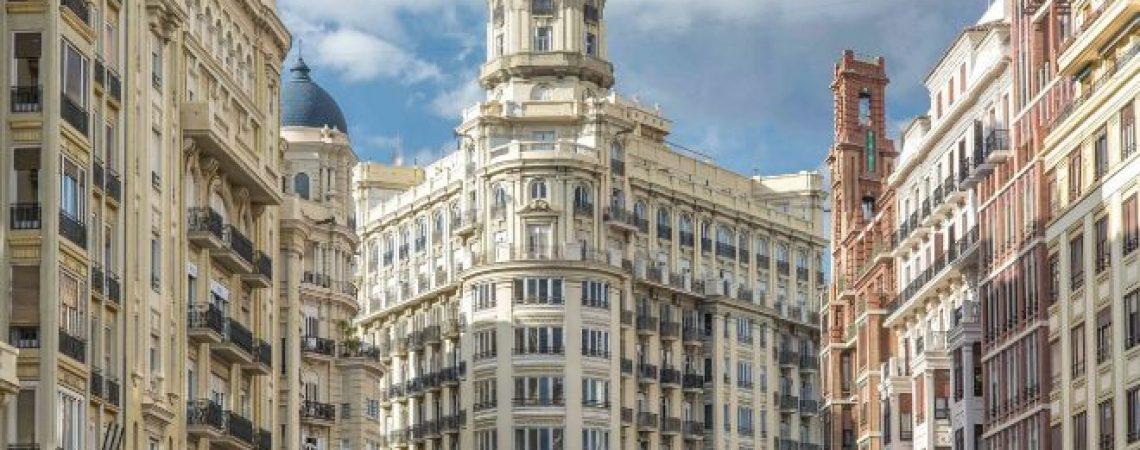 Conjunto de edificios en Valencia